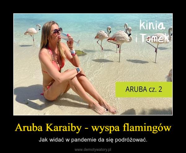 Aruba Karaiby - wyspa flamingów – Jak widać w pandemie da się podróżować.