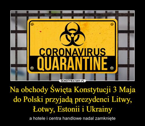 Na obchody Święta Konstytucji 3 Maja do Polski przyjadą prezydenci Litwy, Łotwy, Estonii i Ukrainy