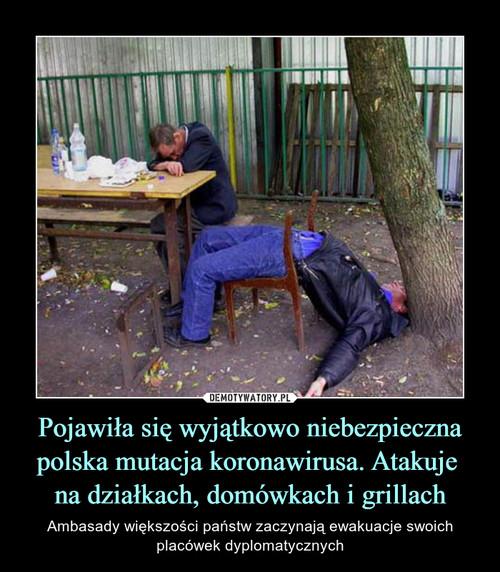 Pojawiła się wyjątkowo niebezpieczna polska mutacja koronawirusa. Atakuje  na działkach, domówkach i grillach