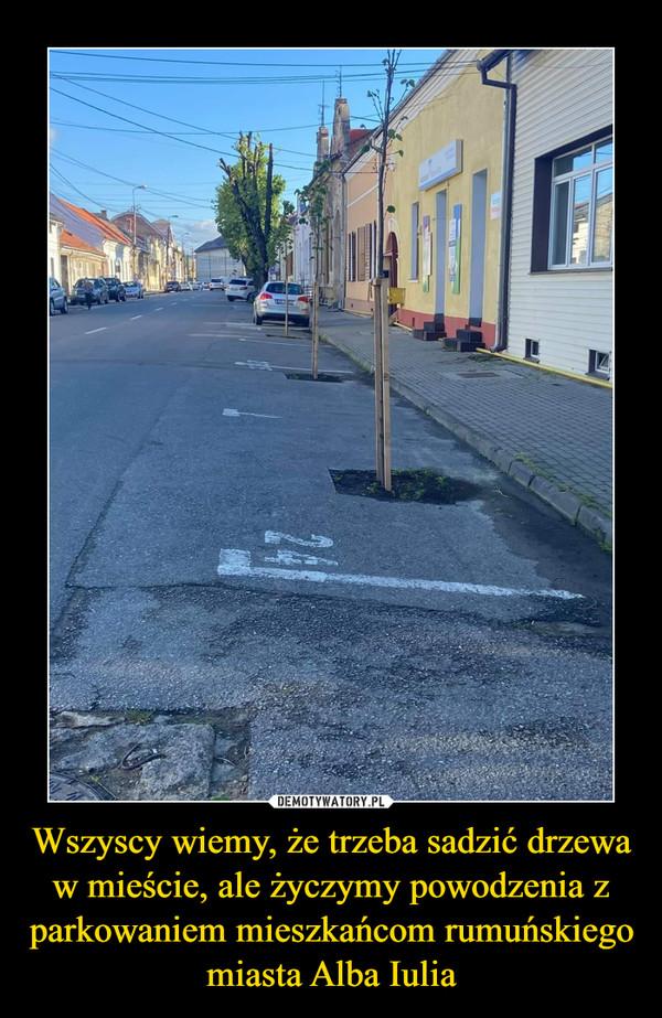 Wszyscy wiemy, że trzeba sadzić drzewa w mieście, ale życzymy powodzenia z parkowaniem mieszkańcom rumuńskiego miasta Alba Iulia –