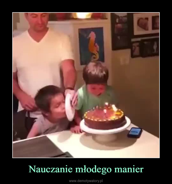 Nauczanie młodego manier –