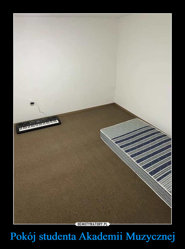 Pokój studenta Akademii Muzycznej –