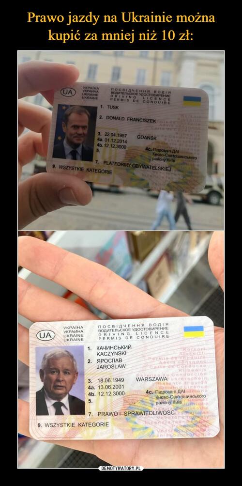 Prawo jazdy na Ukrainie można kupić za mniej niż 10 zł: