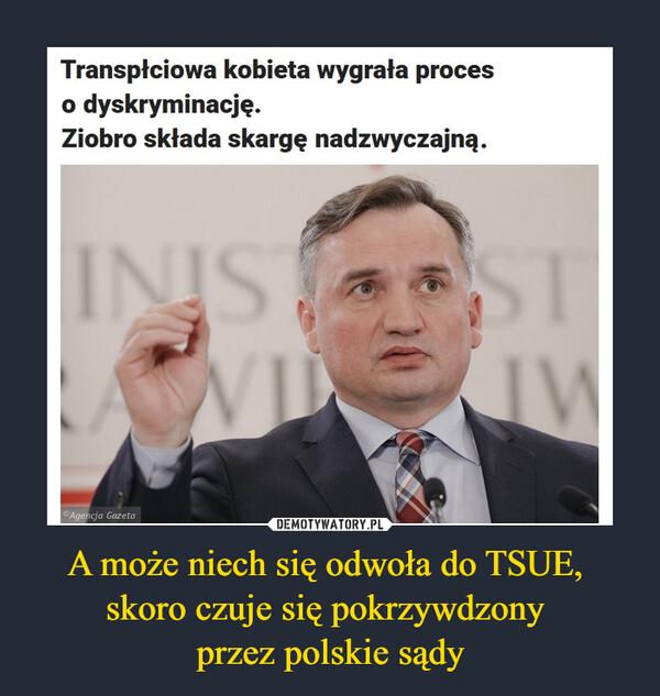 A może niech się odwoła do TSUE, skoro czuje się pokrzywdzony przez polskie sądy –