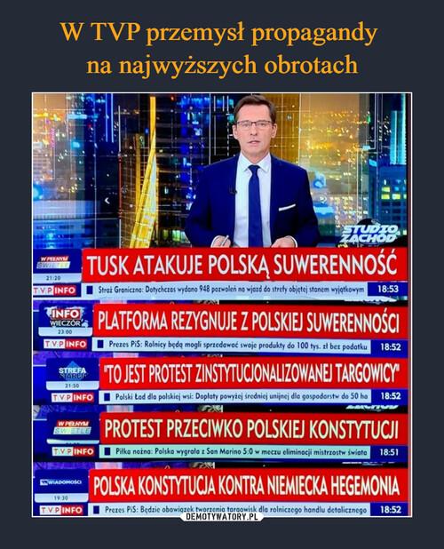 W TVP przemysł propagandy  na najwyższych obrotach