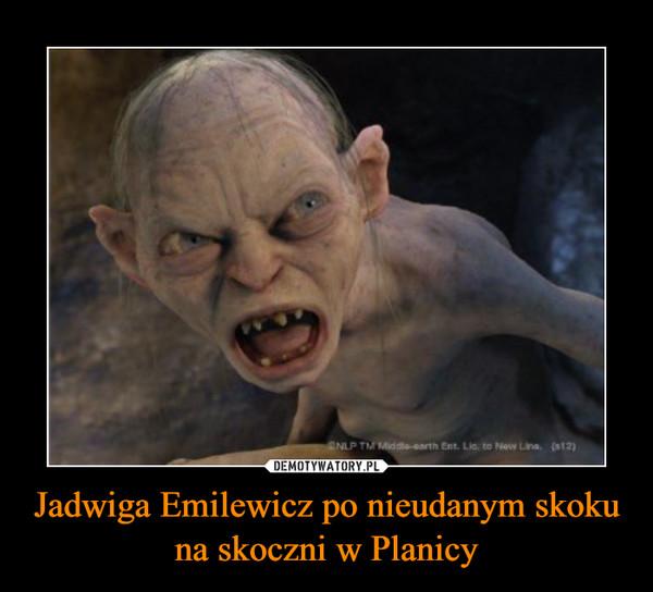 Jadwiga Emilewicz po nieudanym skoku na skoczni w Planicy